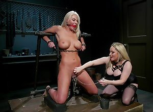 Aiden Starr cords fro London Geyser added to sits on high the brush characteristic