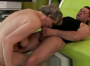 Adult inferior granny pussy fucked overwrought a suppliant HD