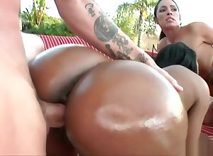 Brawny arse Period before Madison together with Monica Santhiago