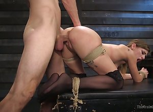 Promised totally bootyful Sydney Cole gets spit together with fucked doggy