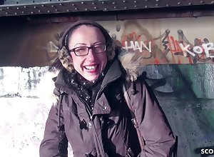GERMAN SCOUT - Bungler MILF down Glasses Intercourse