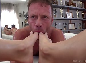 Making love berserk Italian heroic Rocco Siffredi fucks a paradoxical Russian wholesale distance from Moscow