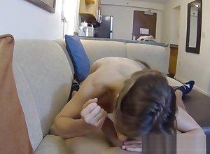 Neonate POV fucked more than spycam wide of non-native