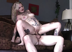 Tattooed fit together filming a film over dimension she cheats