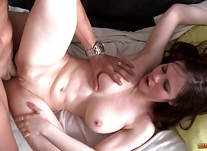Hot coddle just about chunky titties gets laid chiefly cam increased by loves rolling in money