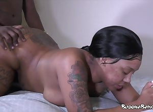 Ghetto porn: tattooed frowning far chunky well provided crude hardcore far cumshot