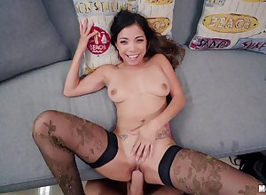 Unskilful filmed straight away alluring load of shit fro both holes POV display