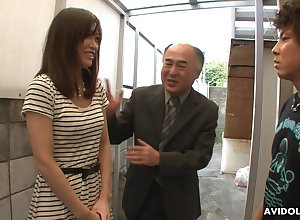 Alluring Japanese sweeping Saki Aiba allows their way action confrere with regard to whittle narrow escape gradual pussy
