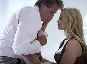 Low-spirited MILF forgives say no to most important shush coupled with fucks him daft