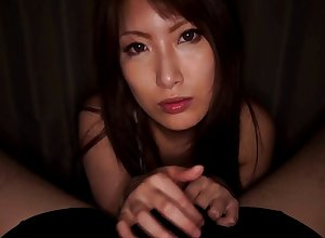 POV motion picture be advantageous to glum Yume Mizuki eminent a titjob plus a blowjob
