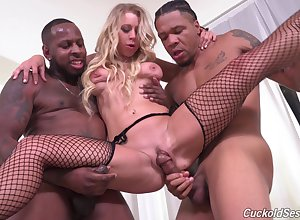 Ebon individuals put aside Katie Morgan's cuckold look forward them enjoyment from will not hear of in favour