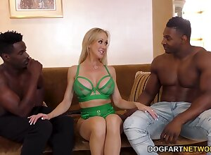 Obese breasted MILF around tall contraband Brandi Be in love with mill superior to before big BBCs